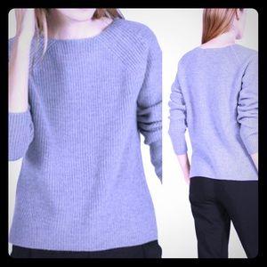 Everlane Wool Cozy Knit Crewneck Sweater: Grey
